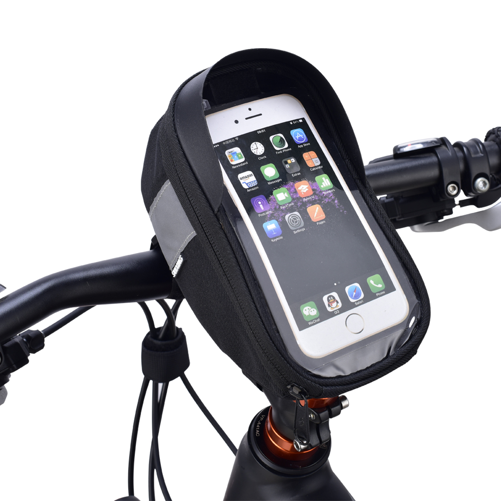 "Bike Bicycle Frame Pannier Bag Top Tube Pouch 4.8/"" Mobile Phone Holder Green"