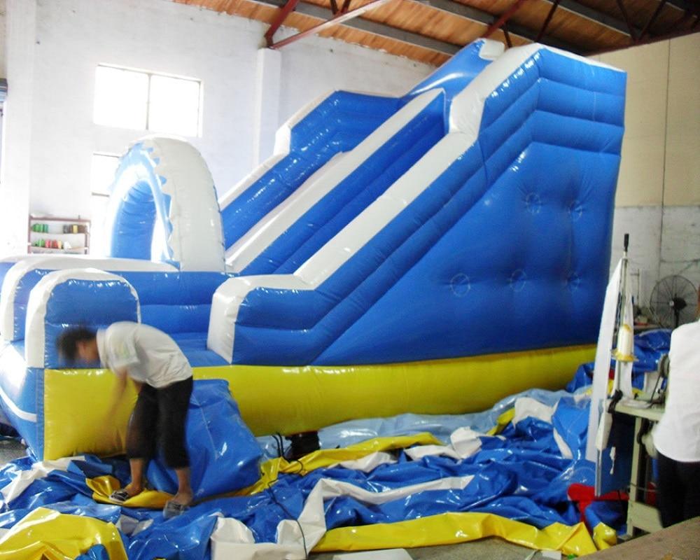 PVC anak-anak bermain slide tiup komersial slide tanah tiup untuk - Hiburan - Foto 4