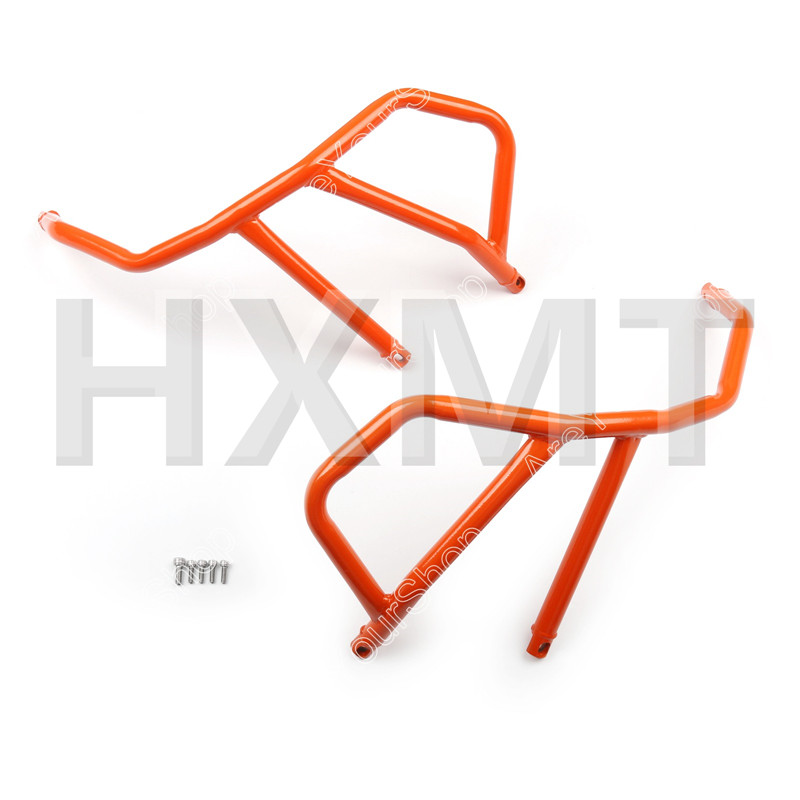 For KTM 1190 Adventure 1050 Orange motorcycle Engine Bumper Upper Guard Crash Bar Protector Steel Frame Guard худи print bar adventure fiction