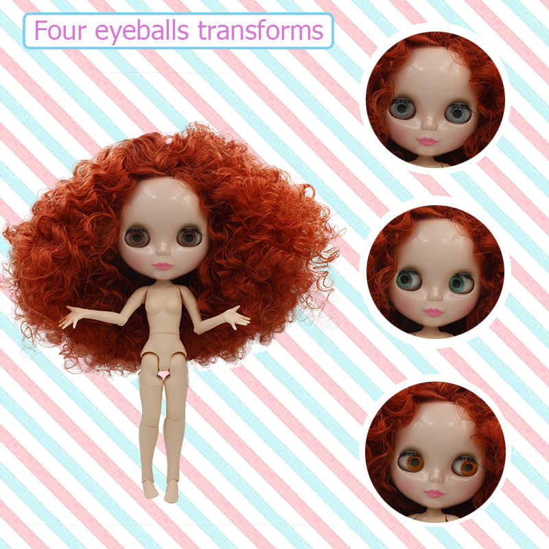 Blyth poupée BJD, néo Blyth poupée nue personnalisée dépoli visage poupées peuvent changer de maquillage et robe bricolage, 1/6 balle articulée poupées
