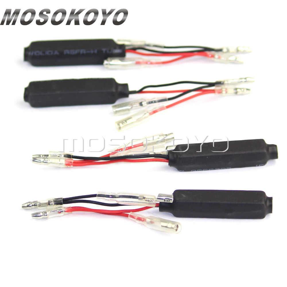 Motorrad Gebildet 4Pcs 12V//21W LED Lastwiderstand Motorrad Blinker Indikator Widerstand Adapter Fix Fehler Flash Controller Blinker Licht Decoder f/ür Motorrad Roller