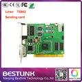 Envio de cartão TS802D RGB 640*2048 pixels de vídeo placa de cartão de controle synchronous Linsn ts802 para p10 LEVOU ao ar livre tela