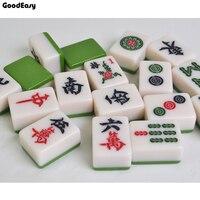 Высокое качество маджонг в дорожной упаковке набор маджонг игры для дома китайские Смешные Семейные столешница игра Меламиновый маджонг
