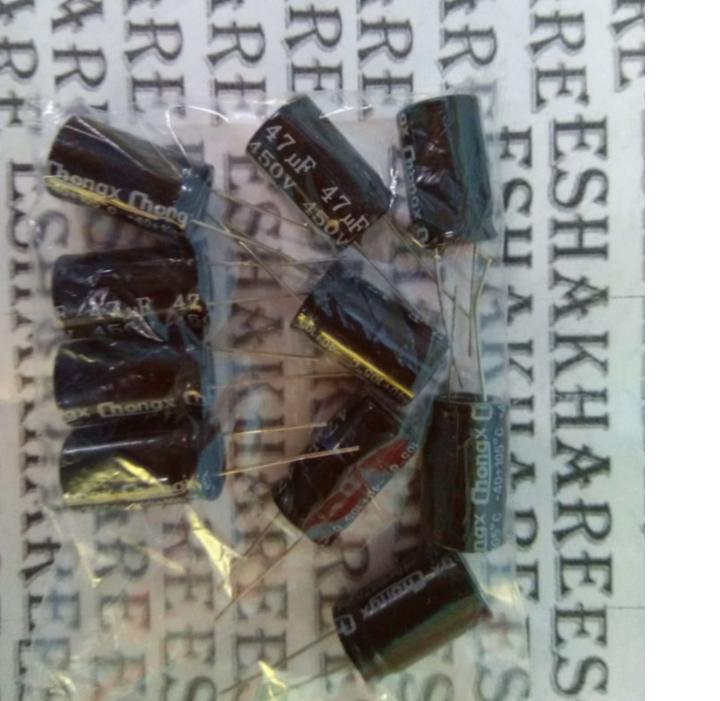 Купить с кэшбэком 10pcs capacitor 450 v47uf 47 uf450v plug-in aluminum electrolytic capacitor specification: 16 * 25