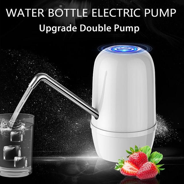 Water Dispensador De Agua Fria Electrico Embotellada Bottled Drinking Water Dispenser Tap Electric Dual Pumps Faucet For Bottle