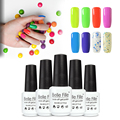 Belle Fille Candy UV Gel Polish Candy Colorful Nail Varnish Soak-off UV Led LampVarnish Deep Colors Dark Bling Brown Varnish