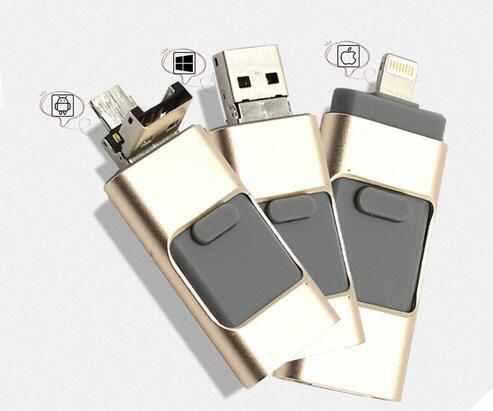 Novo usb flash drive para iphone 7 6 s 6 plus 5 5S ipad otg pendrive 8/16/32/64 gb pen drive hd de armazenamento externo memory stick presentes!