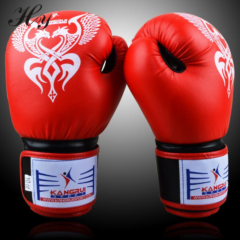 2016 New High Quality Professional Boxing Gloves Sanda Muay Thai Boxing Training Fighting Adult 10oz PU Leather Boxing Gloves династия династия 03 056