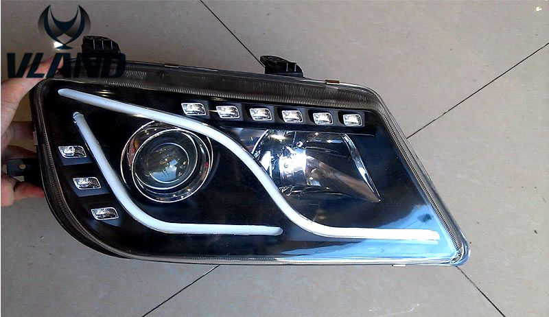 Free shipping for VLAND Car Head lamp for Proton WAJA LED headlight with projectors Xenon lamp