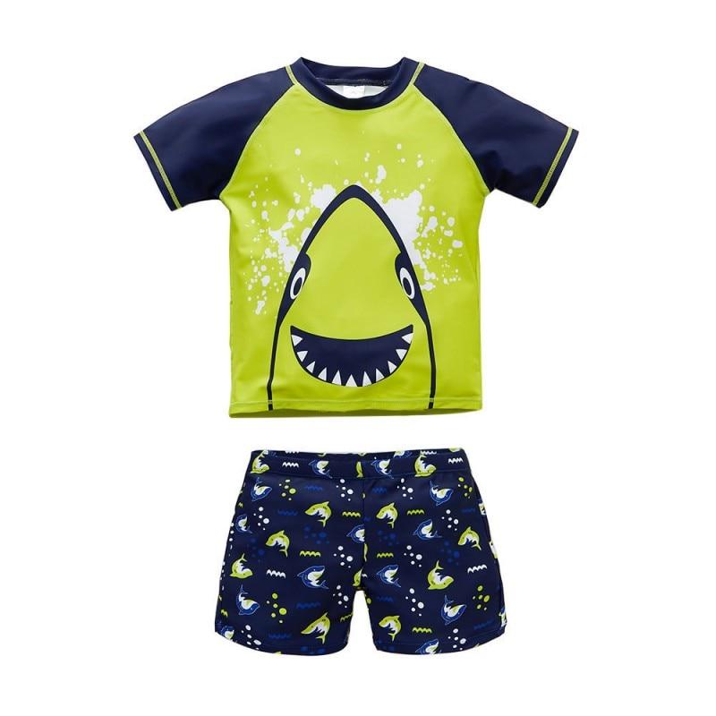 Baby Swimwear Summer Animal Boys 2 Pcs Swimsuit Shark Bathing Suit Swimwear Kids Bathing Suit Beach Wear Cartoon Swimsuit
