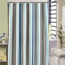 Modern Bath Curtains Bathroom Colorful Striped Waterproof Shower Curtain Bathtub Cover Extra Large Wide 12 Hook rideau de douche