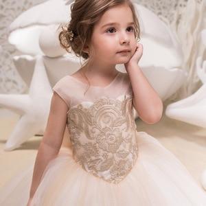 Image 3 - 女の子誕生日パーティードレス子供レースアップリケ夜会服の王女のウェディングドレスクリスマスノースリーブチュチュ服 2 13 年
