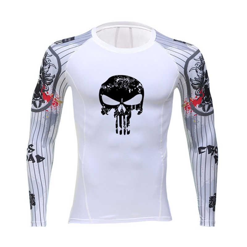 Camiseta de mangas compridas esportes de corrida masculina camiseta esportiva esportiva esportiva de compressão masculina rashgard