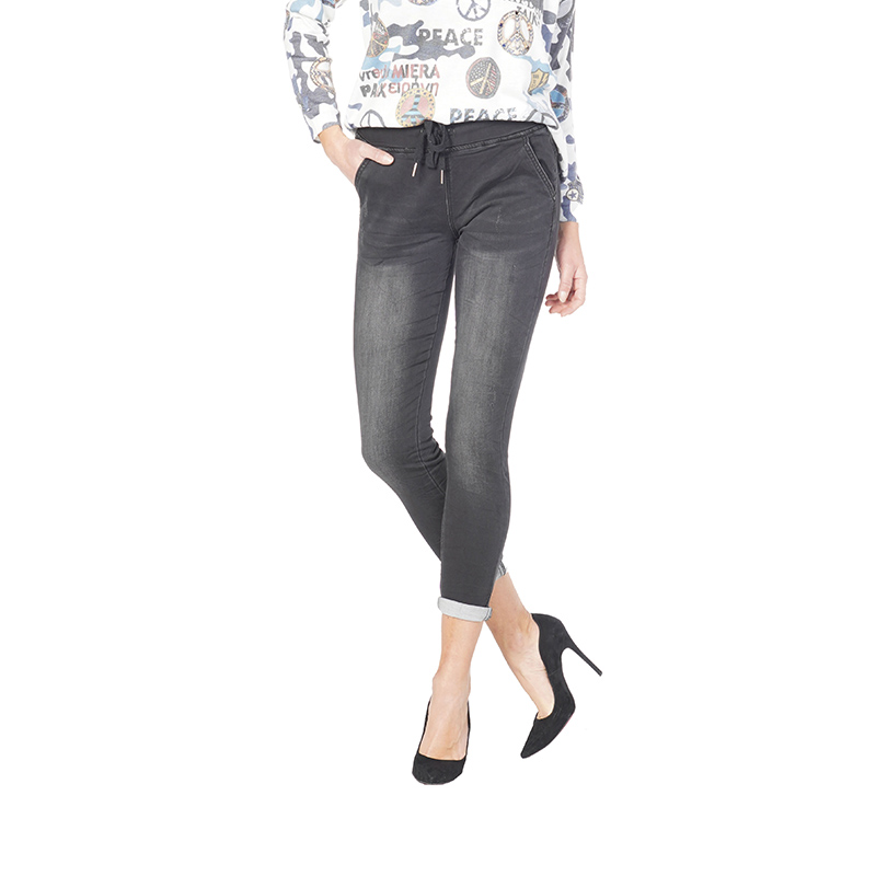My Will Jeans  Denim Female Jeans Black Color Trousers Women Jeans Woman Stretch Skirts And Trousers Skinny 6101 Made In China