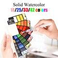 18/25/33/42 cores Set Aquarela Sólida Turbilhão De Água Cor da Pintura de Água Escova Aquarela Pigmento Para a Arte de Desenho suprimentos