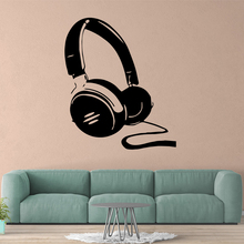 Amusing headset Wall Art Decal Stickers Pvc Material for Living Room Company School Office Decoration Mural