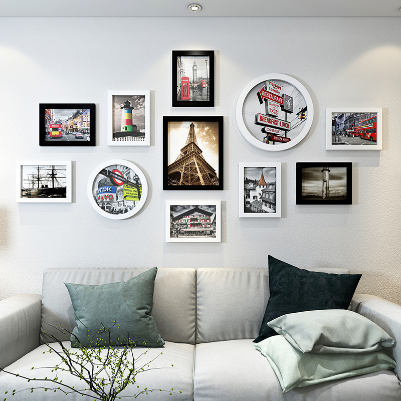 Modern City Style Home Sofa TV Decor Photo Frames Wall 11pcs set Photo Frames Quality Cheap