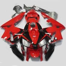 Мотоцикл литья под давлением обтекатель комплект для Honda CBR 600 RR CBR600RR F5 2005-2006 CBR 600RR 05 06 Кузов Обтекатели красная УФ краска