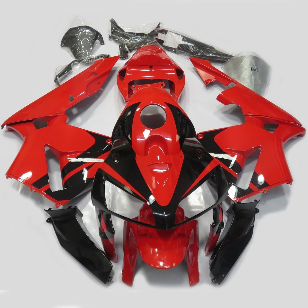 Motorbike Injection Mold Fairing Kit For Honda CBR 600 RR CBR600RR F5 2005 - 2006 CBR 600RR 05 06 Bodywork Fairings Red UV Paint new hot moto parts fairing kit for honda cbr1000rr 06 07 green injection mold fairings set cbr1000rr 2006 2007 ra17