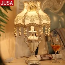 YOOK European Royal Court Table Lamp for Living Room Bedroom Classical Resin 220v 110v E27