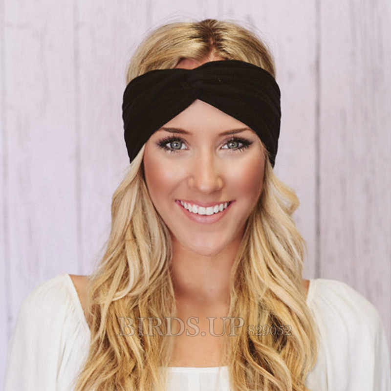 8fab8c28450 ... Twist Turban Headband for Women Bows Elastic Sport Hairbands Head Band  Yoga Headbands Headwear Headwrap Girls ...