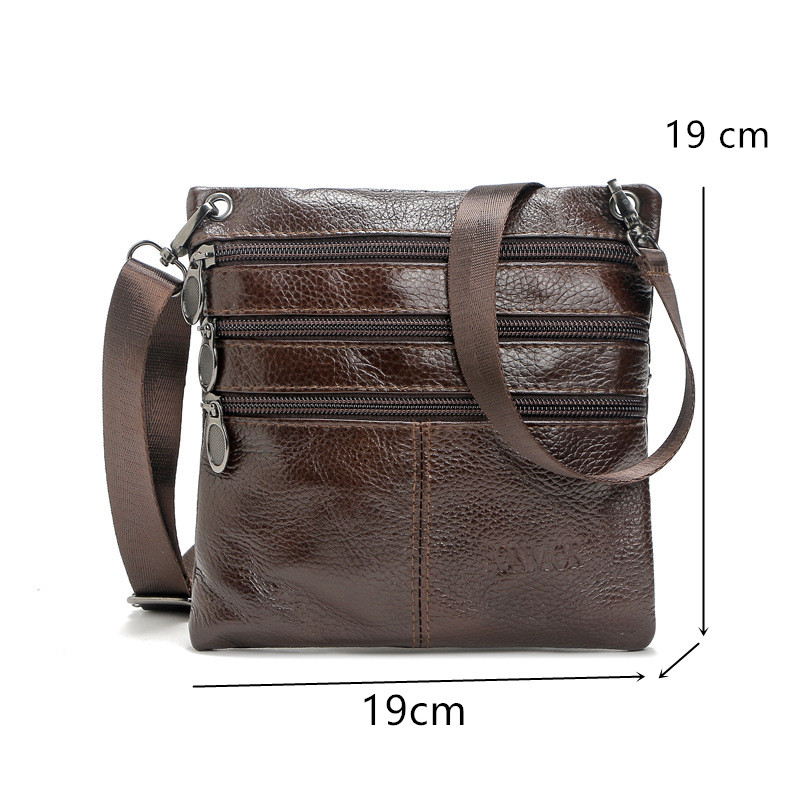 85754b70a96 Men s Bags Genuine Leather male Crossbody Bags strap Small Casual Flap Men  Cow Leather messenger bag men s shoulder bag 2019-in Crossbody Bags from  Luggage ...