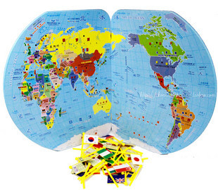 Christmas gift box boutique large world map flags inserted christmas gift box boutique large world map flags inserted educational toys for children gumiabroncs Image collections