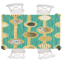 Abstract Plant Flower Round Tablecloth Oilproof Anti-dirty Waterproof Nordic Geometric Decor Rectangular Table Cloth