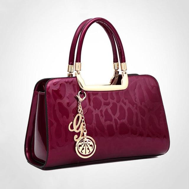 Luxury Women Patent Leather Handbags Elegant Las Tote Bags Original Brand Designer Paris