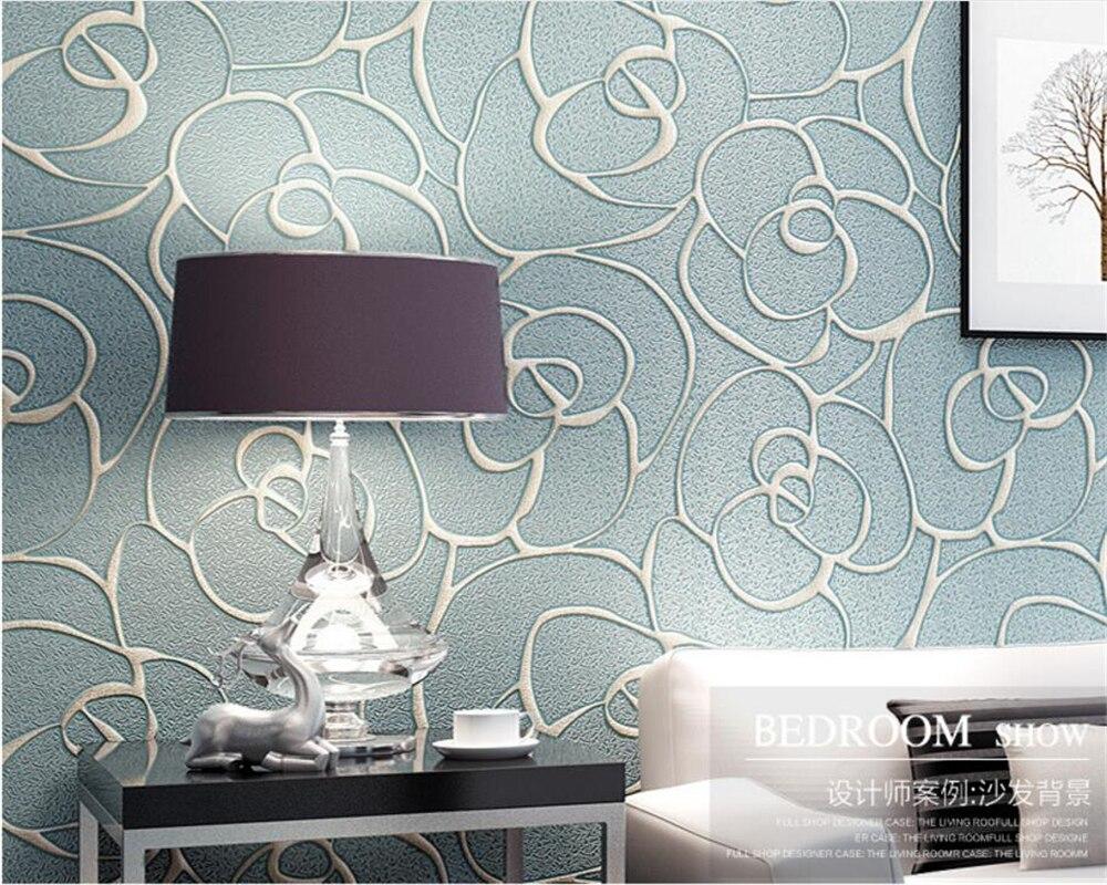 Beibehang anaglyphe fleur essences presse papier peint contemporain contracté chambre salon TV réglage 3d papier peint rouleau