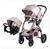 Carritos de bebé Cochecito cochecito paisaje de alta puede sentarse o acostarse cubierta de choque cochecito de bebé envío gratis