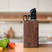 Japan style Kitchen Knife Holder Shelf Rack Storage Bamboo Knife Block Toolframe Cutting Tool Stand for Chef Knife Set