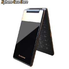 "Original lenovo a588t 4 ""android 4.4 rom 4 gb vertical flip smartphone mtk6582m quad core dual sim de la red gsm"