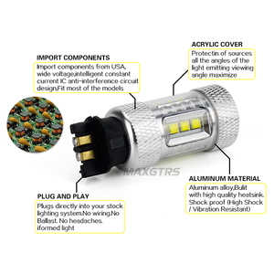 Image 4 - 2x רכב עמילות אור LED PW24W PWY24 CREE שבב DRL בשעות היום ריצת אור איתות ערפל החלפת הנורה עבור אאודי a3 a4 a5 q3