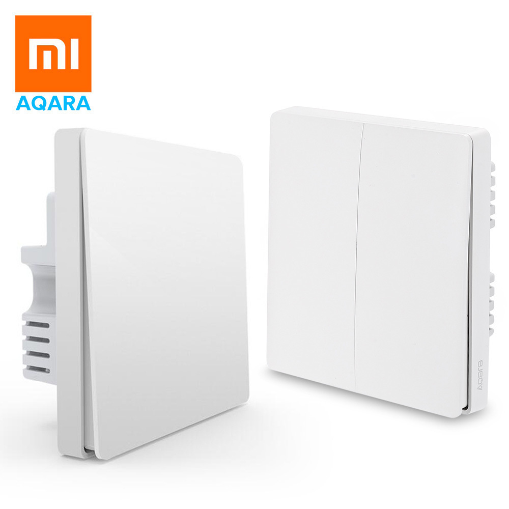 Original Xiaomi Smart Home Aqara Wall Switch Wireless Switch Smart Light Control ZigBee Remote Control by Smartphone Xiaomi APP цена и фото