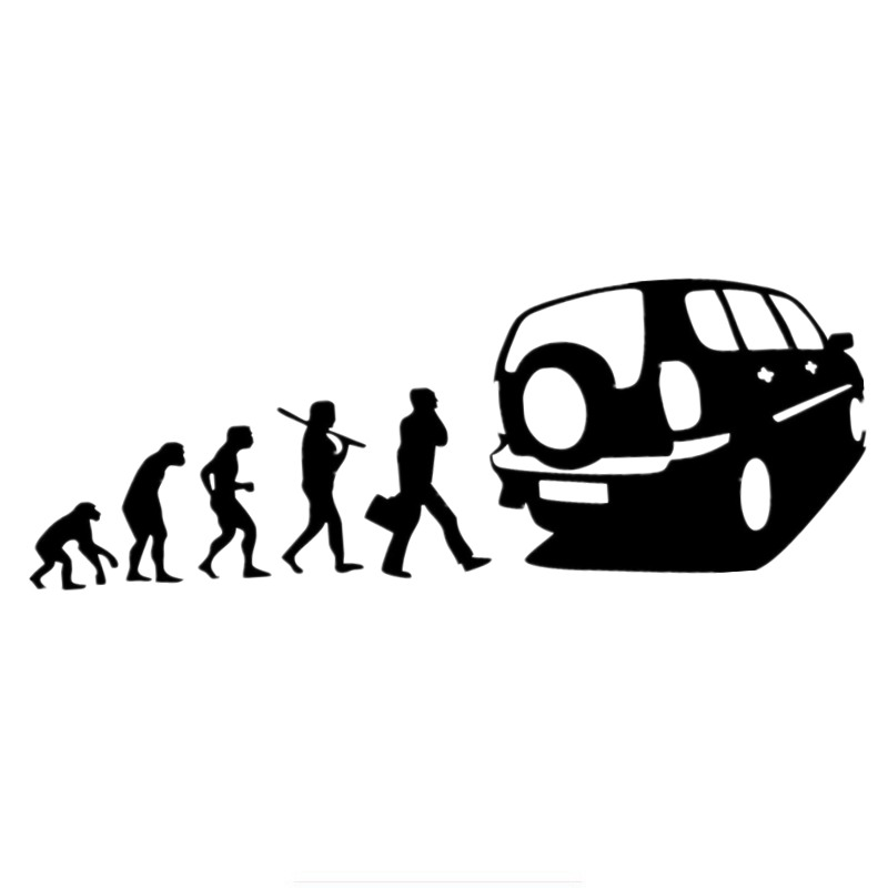 Three Ratels TZ-812 10*28.5cm 1-5 pieces car sticker Human evolution for chevrolet niva auto sticker car stickers chevrolet niva 1 8 mt