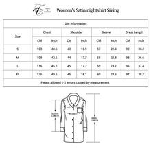 Tony&Candice Women's Nightshirt Satin Silk Sleepwear Sexy Female Nightgown Home Dress Solid Nightwear For Women Sleep Lounge