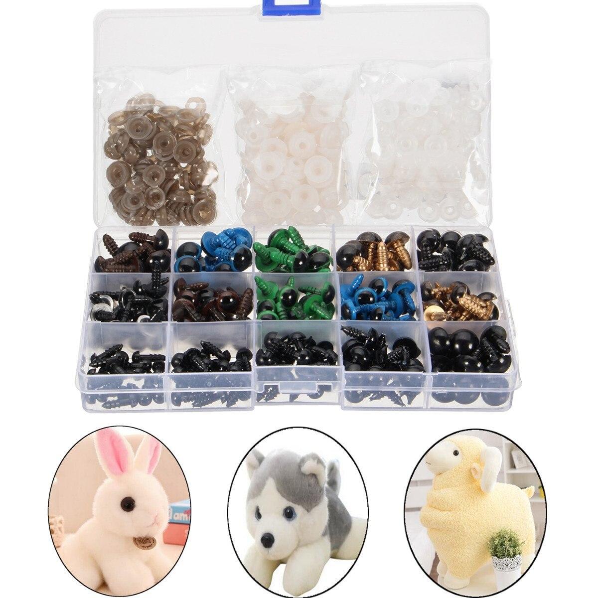 Новинка 264 шт. мм 6-12 мм черные цветные нитки глаза для плюшевого медведя кукла валяние животные игрушка Googly глаза используются для куклы аксессуары