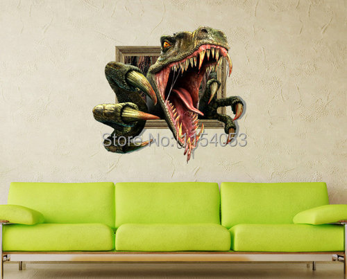 3d Dinosaur Wall Art online shop cool 3d art wall painting decor angry dinosaur hot