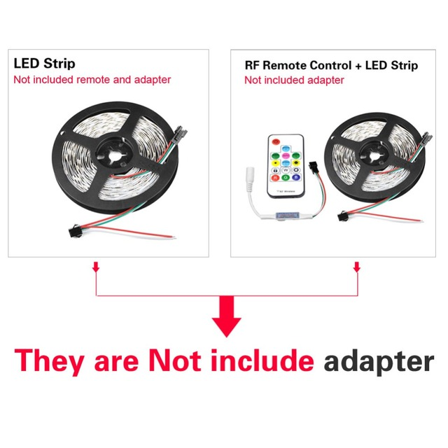 DC 12V Cabinet Light Decoration Kitchen TV Backlight Lamp LED Pixel Strip WS2811 Programmable Addressable 5050 RGB Flexible Tape