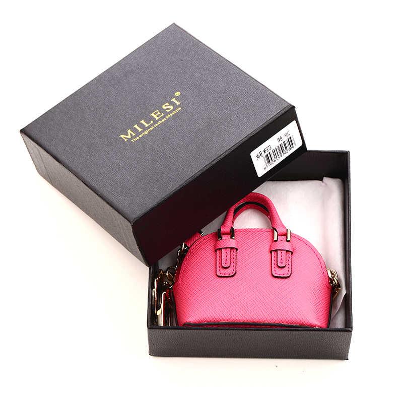 Milesi moda saco pingente feminino chaveiro senhora bolsa acessórios bonito em miniatura bolsa para boneca inteligente mp373