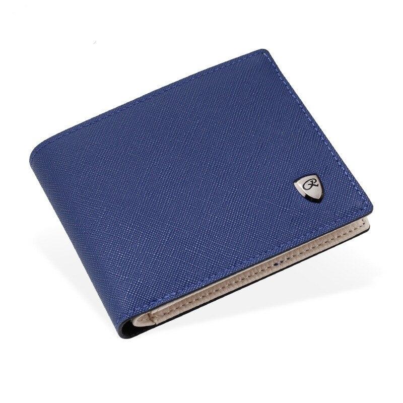 blau Leder Teile Frische Männer Großhandel grau Brieftaschen los Schwarzes Designer 50 Geldbörse vwAqRX