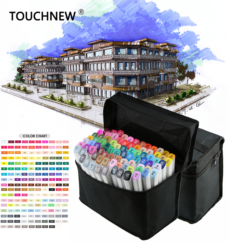 TouchNew 168 Colors Drawing Marker Pen Animation Sketch Markers Set For Artist Manga Graphic Alcohol Based