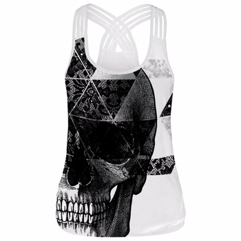 Retro Cool  Sexy 3D Printed Summer Crop Tank Tops 1