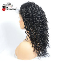 Sunnymay воды волна 360 синтетические волосы на кружеве al парик с ребенком волос предварительно сорвал синтетические волосы на кружеве