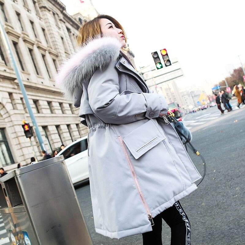 15 Taille Mince Blanc Raton De Canard 13 Vestes Femmes Survêtement 11 Hiver Vers Manteaux Chien Le Fit Laveur Réel Duvet Mode Collier 12 Bas Loose 2018 Automne FInxr6n