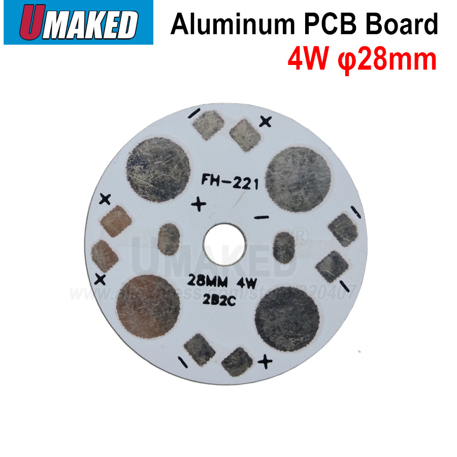 3D Printing & Scanning 20Pcs 24 x 1/2W 5730 SMD LED High Power Aluminum Base Plate 60mm Dia