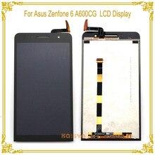 Haute Qualité Écran lcd Pour Asus Zenfone 6 A600CG A601CG T00G + Écran Tactile Digitizer Assemblée Repartment Nouveau Noir 6.0 pouces