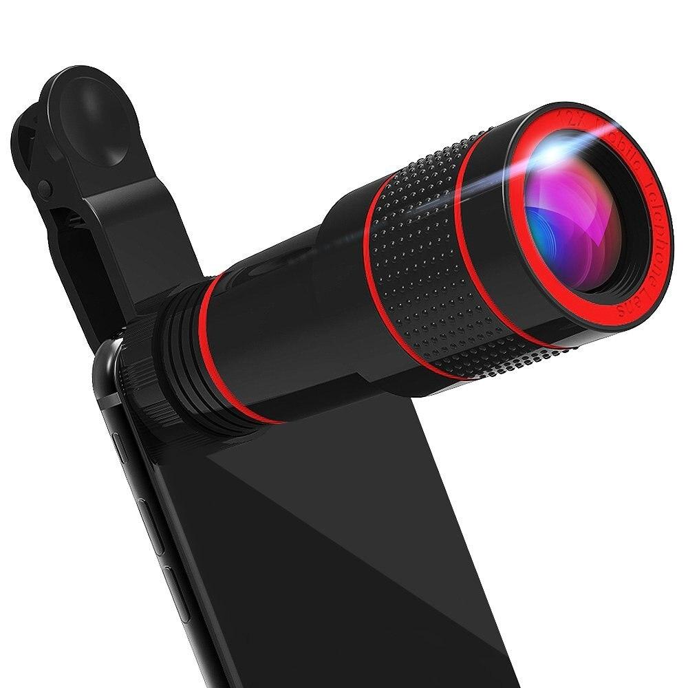 Clip universel 8X 12X Zoom Téléphone Mobile Télescope Optique Téléobjectif Externe téléphone Camera Lens pour iPhone Sumsung XIAOMI