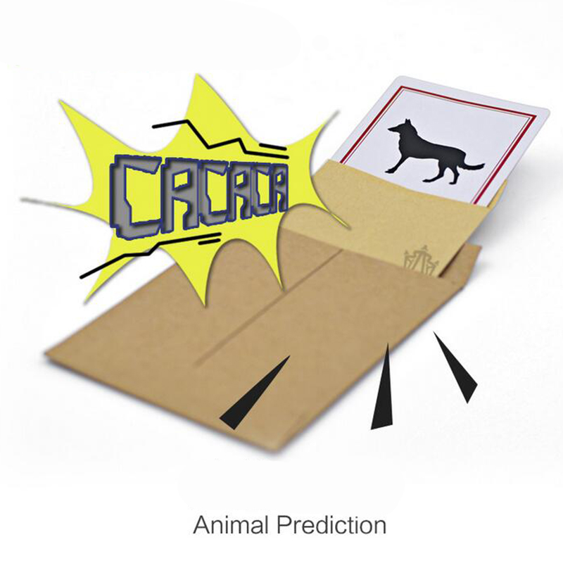 Animal Prediction Danger Card Magic Trick Set Close Up Street Card Props Prediction Magic Toys For Children 81469